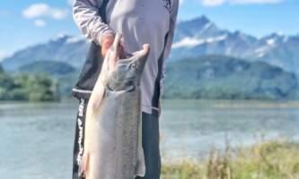 Alaska Big River Lake Silver Salmon Smile 2 Alaska Fishing with Mark Glassmaker