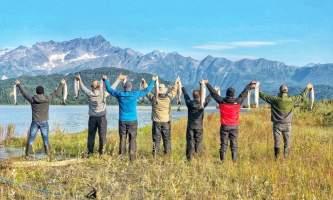 Alaska Big River Lake Silver Salute Alaska Fishing with Mark Glassmaker