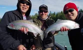 Alaska IMGP2009 Double Leonard and son Brian Lee and Mark Glassmaker Alaska Fishing with Mark Glassmaker