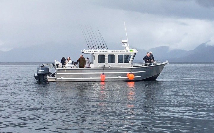 Fish from a comfortable, 32-foot Crozier with a full bathroom and spacious deck