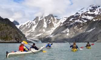 Alaska mountain guides sea kayaking East Arm12019