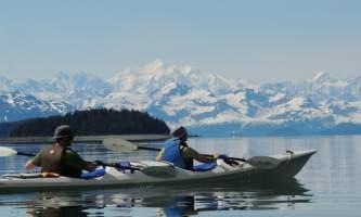 Alaska mountain guides sea kayaking tandem scenic2019