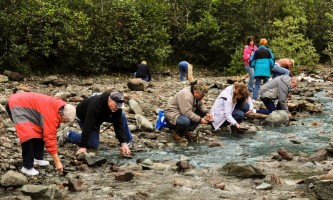 Historic gold mining panning adventure goldpanning2 Alaska Travel Adventures