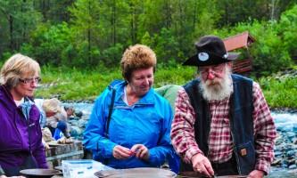 Historic gold mining panning adventure goldpanning3 Alaska Travel Adventures