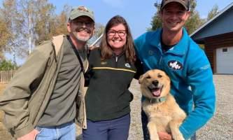 Liz Failor Tourists with Matt alaska alaskan husky adventures