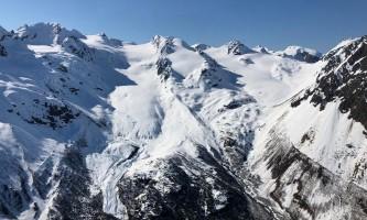 Alpine air dog sledding Alpine Air Seward En Route to Dog Sled Camp at Fourth of July Glacier2019