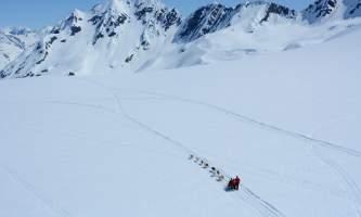 Alpine air alaska girdwood glacier dogsledding Alpine Air Alaska Glacier Dog Sledding Aerial