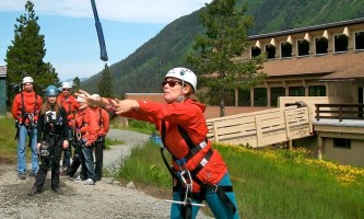 Alaska alpine zipline adventures juneau Action Shot copy alaska zipline adventures