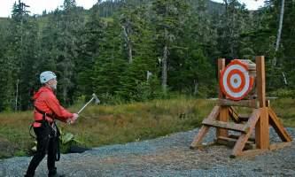 Alaska alpine zipline adventures juneau AZA axe throw alaska zipline adventures