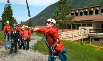 Alaska alpine zipline adventures juneau Action Shot copy alaska zipline adventures