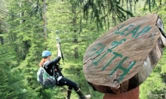 Alaska alpine zipline adventures juneau Leap of Faith alaska zipline adventures