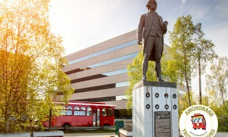 2019 Anchorage Trolley at Captain Cook Statue copy2019