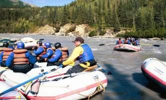 Explore denali rafting DPR Owned 027 Alaska Channel Rafing at Denali Park Village