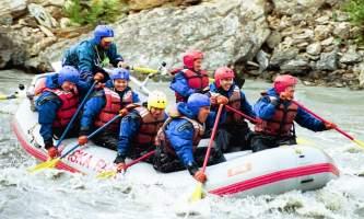 Explore denali rafting DPR Owned 029 Alaska Channel Rafing at Denali Park Village