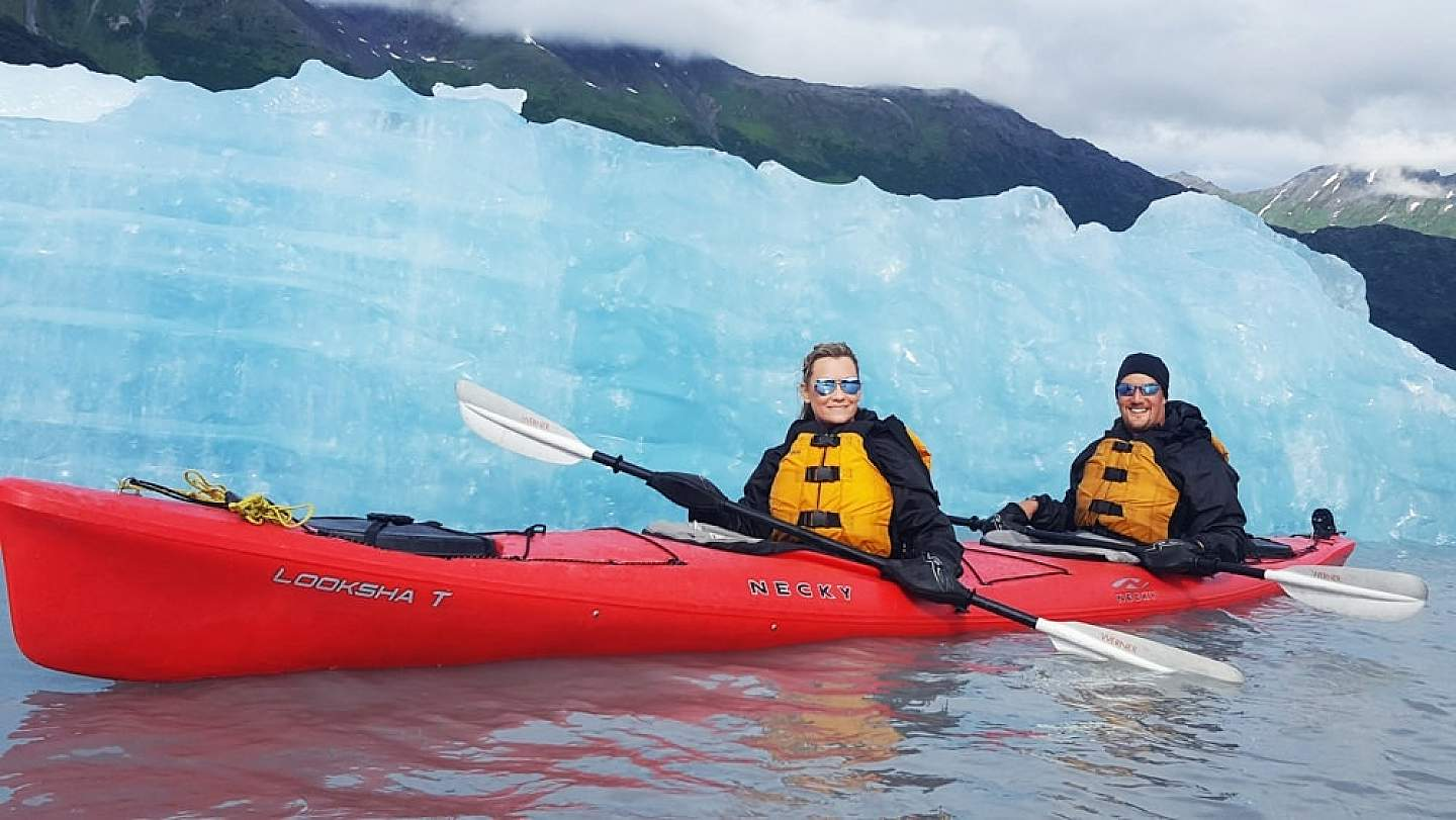 Hike on and into a glacier by helicopter with Ascending Path's world-class guides