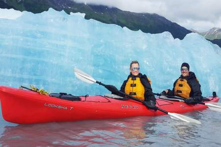 Kayaking with Icebergs at Spencer Glacier