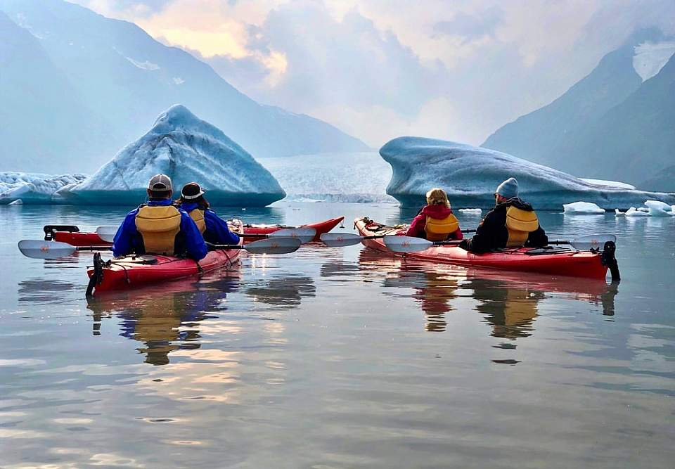Experience the closest Iceberg Kayaking to Anchorage & Girdwood by train with Ascending Path's world-class guides.