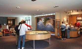 Begich boggs visitor center Portage Glacier VC interior 001 Begich Boggs Visitor Center