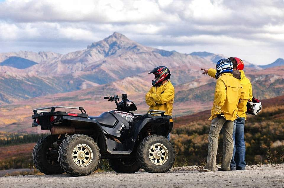 An ATV tour is a great way to take in the breathtaking mountain scenery of the Healy / Denali area.