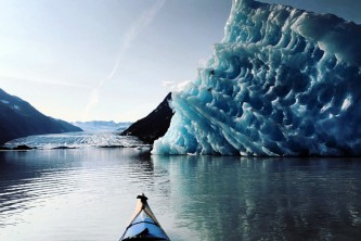 Glacier blue kayak Glacier Blue Kayak Trip at Spencer Glacier PC Corey Anderson2019