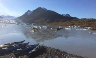 Glacier blue kayak Fall 2016 ATWS DOA ICE Launch2019