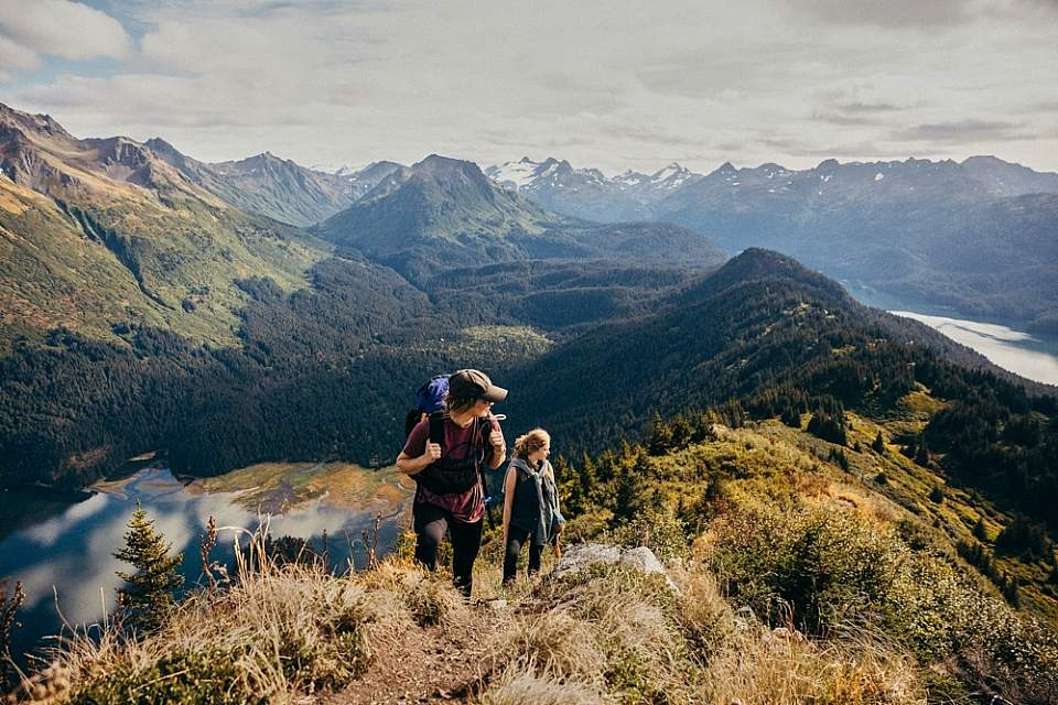Create your own adventure by using Coldwater Alaska's Water Taxi Services, like hiking in Kachemak Bay State Park