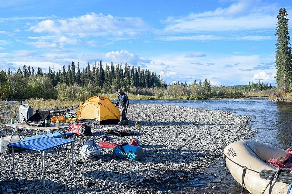 Leave it up to the guides on a fully-catered multi-day rafting trip on the Copper River, one of Alaska's finest float trips