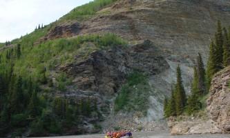 Denali Raft Adventures Back of Raft above train wreck 052019