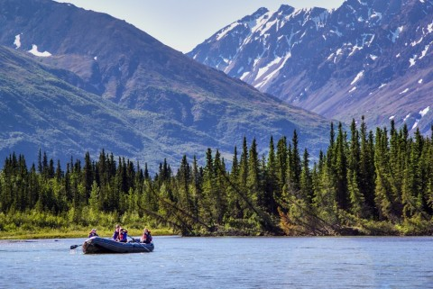 The mild McKinley Run, starts farther upriver offers a gentler experience on the river