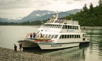 Glacier bay lodge GB tour kayak boat3 Alaska Channel