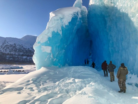 Explore the ice caves of Spencer Glacier on the Real Deal tour