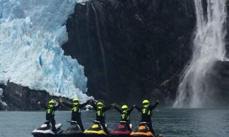Glacier jetski adventures five skis waterfall2019