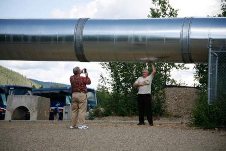 2013 Gold Dredge Guest Holding Up Pipelinelarge2019