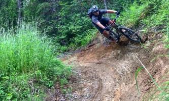 Great alaska adventure bucket list trip Matt mt bike banked turn