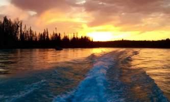 Great alaska adventure bucket list trip Nick Powerboat dawn