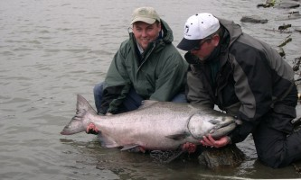 Great alaska adventure lodge fishing day trips Great Alaska King salmon release2019