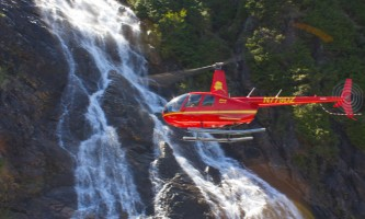 Helicopter Air Alaska Waterfall2019