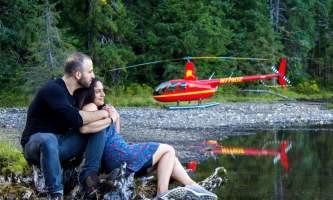 Helicopter Air Alaska Couple Mahoney lake2019