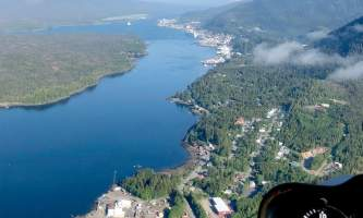 Helicopter Air Alaska Flying S of Ketchikan2019