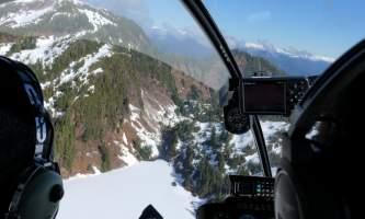 Helicopter Air Alaska Flying over John Mtn2019
