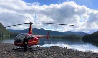 Helicopter Air Alaska Mahoney Lake landing2019