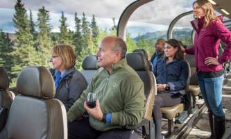 Princess rail tour Rail Guests looking out window small group rail 02 small2019