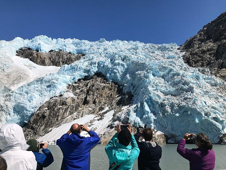 Your captain takes the boat as close to any glacier as safely possible for the best view
