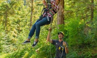 Zipline KTN Aerial zip DEUS Guide Guest Smile