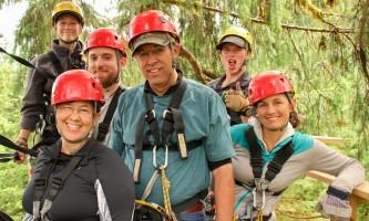 Zipline KTN Rainforest Zip Group Photo 4