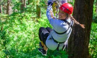 Zipline KTN Rainforest Zip Guest Zip Away Smile