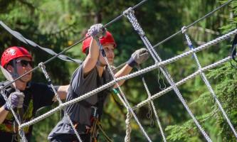 Zipline KTN Rainforest Zip Guests Bridge