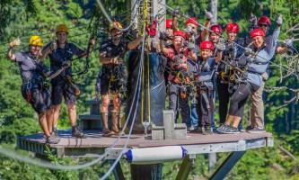 Zipline KTN Rainforest Zip Guests Guides Platform