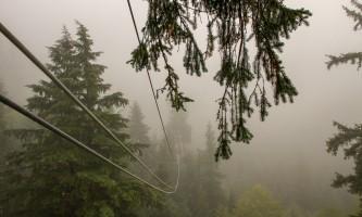 Zipline KTN Rainforest Zip Zipline in clouds