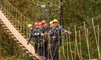 Zipline KTN Rainforest zip suspension bridge 050418